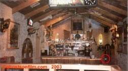 Inside the Tequila & Lime Bar at the Hotel del Patio Tikal. Santa Elena, Guatemala 1997
